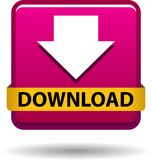 Download button web icon pink royalty free illustration