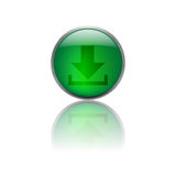 Download button. On white bacground Royalty Free Stock Image