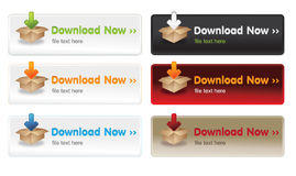 Download buttons. Web 2 vector set Royalty Free Stock Photos