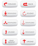 Download buttons Royalty Free Stock Photos