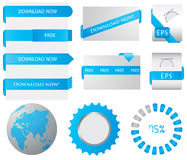 Download buttons Royalty Free Stock Images