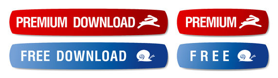 Download buttons. Download buttons set for web Royalty Free Stock Images
