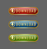 Download buttons Stock Image