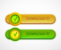 Download buttons Stock Photo