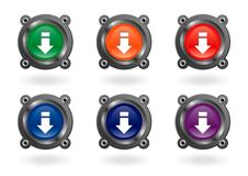 Download buttons Stock Photos