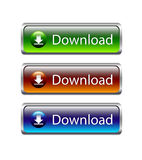 Download buttons with gray frame Stock Image