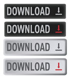 Download buttons set Stock Image