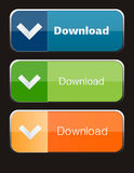 Download buttons Royalty Free Stock Photography