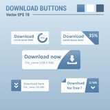 Download buttons Stock Images