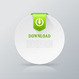 Download card icon. Vector illustration Stock Image