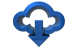 Download from the cloud Stock Photo