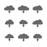 Download cloud set Stock Images