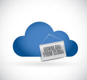 Download from cloud sign illustration design Royalty Free Stock Images
