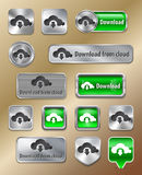 Download from cloud web elements Stock Photos