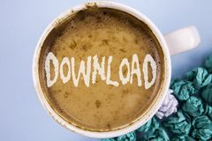 Download concettuale di rappresentazione di scrittura della mano Foto di affari che montra i collegamenti di risparmio del file m fotografia stock