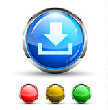 Download  Cristal Glossy Button Royalty Free Stock Images