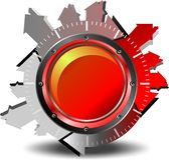 Download da tecla vermelha Imagens de Stock