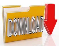 Download-Datei zeigt Downloading-Software Lizenzfreie Stockfotos