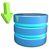 Download-Datenbank Stockfoto