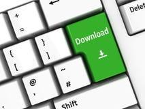Download della tastiera di computer Fotografie Stock