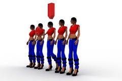 Download der Gruppe von Personenen-3d Lizenzfreies Stockbild