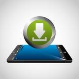 download digital data icons vector illustration