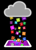 Download on the Digital Tablet Royalty Free Stock Image