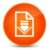 Download document icon elegant orange round button Royalty Free Stock Photos