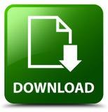 Download (documentpictogram) groene vierkante knoop Royalty-vrije Stock Fotografie