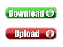 Download e transferência de arquivo pela rede Imagens de Stock