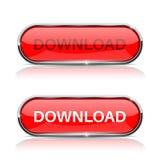 Download etwas Glänzende rote ovale Netzikone Lizenzfreie Stockbilder