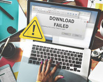 Download Failed Data Stop Loss Transfer Network Concept Royalty Free Stock Photo