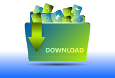 Download file folder  icon Royalty Free Stock Photos