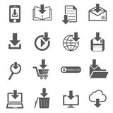 Download file icon set. /16  for design Stock Image