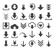 Download file icons Royalty Free Stock Photography
