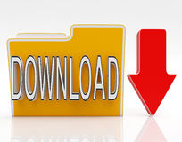 Download File Shows Downloaded Software Stock Photos