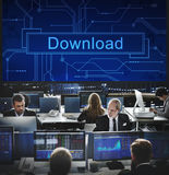 Download Files Information Technology Sharing Concept Royalty Free Stock Photo