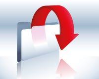Download folder. Illustration of a download folder and data transfer Stock Photo