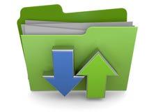 DOWNLOAD FOLDER - 3D. Download Folder on white background Stock Image