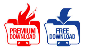 Download Folder Icons. Download Folder color Icons Set Royalty Free Stock Photography