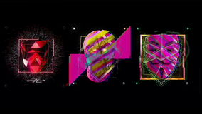 Download60fps VJ Lijnen De Lijn van clubvisuals VJ vector illustratie