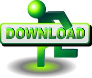 Download GO!. Button to download the file Royalty Free Stock Photos