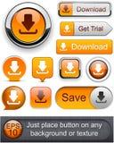 Download high-detailed modern buttons. Stock Photos