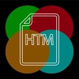 Download HTM document icon - vector file format. Symbol. Thin line pictogram - outline editable stroke stock illustration