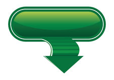 Download icon. Download green icon with curved arrow,  illustration Royalty Free Stock Photo