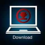 Download icon button Stock Photo