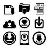 Download icon button Stock Photo