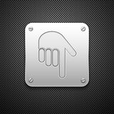Download icon with hand. Royalty Free Stock Photography
