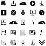 Download icon set. The download of icon set Stock Photos