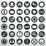 Download icon set. Illustration Stock Images
